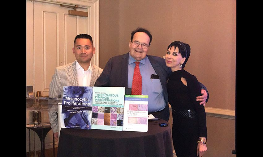 Dr. Matin Mihm and Dr. Magro with her fellow, Dr. Allen Miraflor.